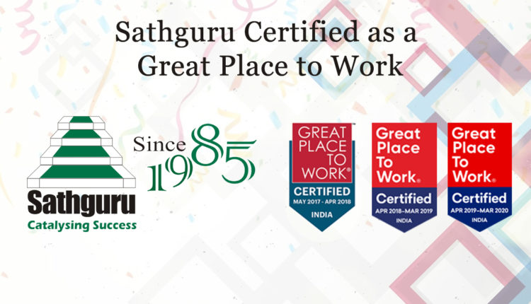 Sathguru Certified Great Place to Work